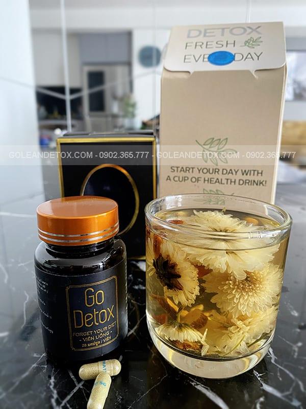 trà giảm cân golean detox - cách dùng go detox